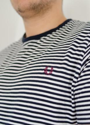 Fred perry полосатая футболка в темно-синюю полоску