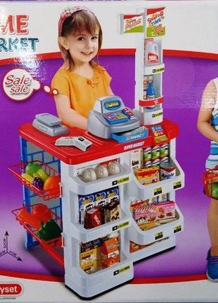Детский игровой набор Супермаркет 668 02 касса с продуктами и ...