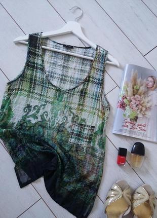 Чудесная блуза топ прямой силуэт вискоза..# 358