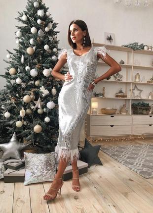 Платье на новый год / рождество / в пайетках / вечернее
