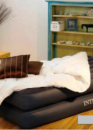 Надувна ліжко Intex 64122, 99 х 191 х 42 см, вбудований електр...