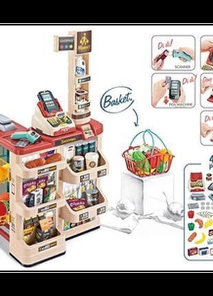 Детский игровой набор супермаркет магазин 668 84 с корзинкой, ...