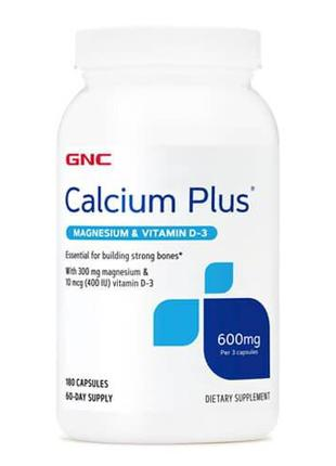 Кальций магний витамин D3, GNC Calcium Plus Magnesium & Vitami...