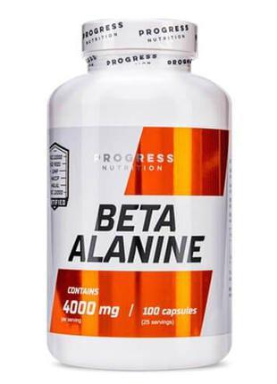 Бета-аланин, Progress Nutrition Beta Alanine 100 капсул