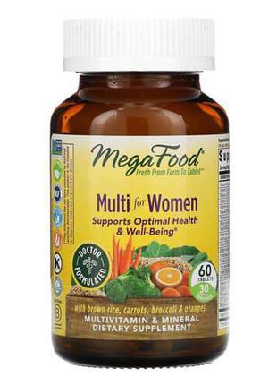 Натуральные витамины и минералы для женщин, MegaFood Multi for...