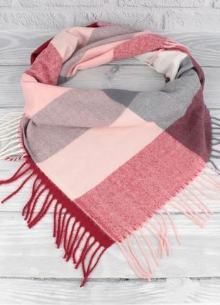 Мягкий кашемировый платок cashmere 7980-4 в клетку, расцветки