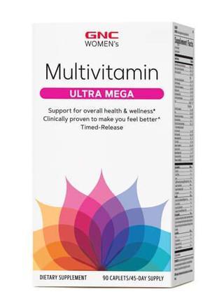 Витаминно-минеральный комплекс, GNC Women's Ultra Mega 90 капсул