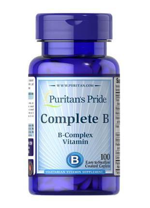 Витамины группы B, Puritan's Pride Complete B 100 таб
