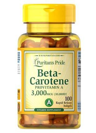 Витамин А, бетакаротин, Puritan's Pride Beta-Carotene 10,000 I...