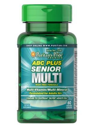 Витаминно-минеральный комплекс, Puritan's Pride ABC Plus Senio...