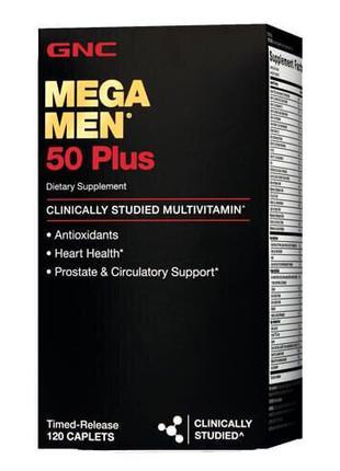 Витамины для мужчин 50+, GNC Mega Men 50 Plus 60 таб