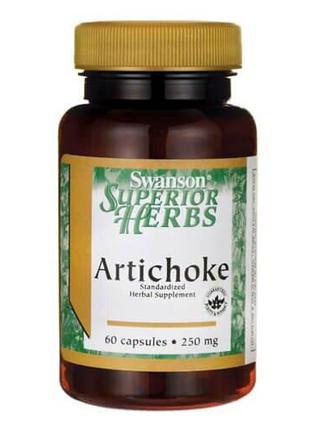 Артишок Swanson Artichoke Extract 250 mg 60 капсул
