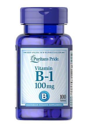 Витамин B1,Puritan's Pride Vitamin B-1 100 mg 100 таб