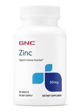Цинк, GNC Zinc Citrate 30 mg 90 таб