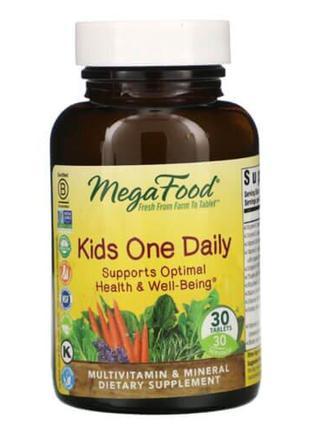 Мультивитамины для детей, MegaFood Kids One Daily 30 таб