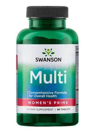 Мультивитамины и минералы для женщин, Swanson Women's Prime Mu...