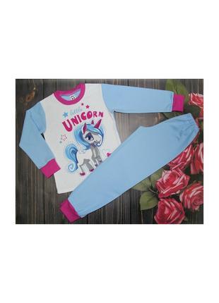 Пижама с начесом Пони на на 4-10 лет (1365)