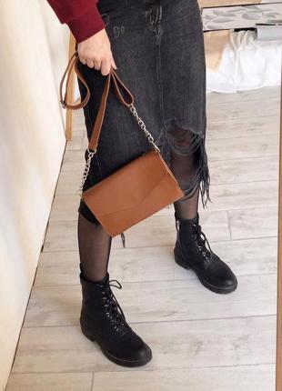 6 цветов! терракотовый клатч коричневая сумка