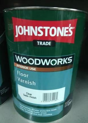 Лак Johnstones Woodworks Floor Varnish Джонстоун Вудворкс 5л