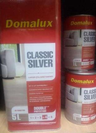 Domalux Classic Silver лак для паркету домалюкс