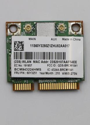 Wi-fi модуль HalfSize Mini pcie для Lenovo! Broadcom BCM943224...