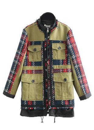 Куртка женская из комбинированной ткани
