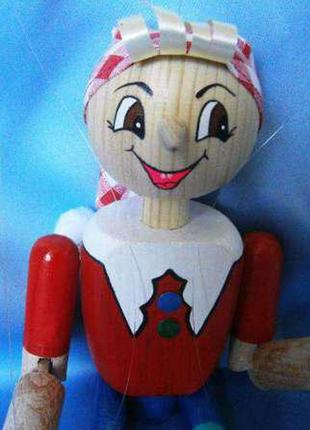 Деревянная кукла-марионетка «Буратино»