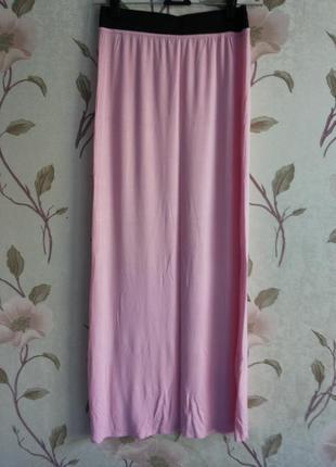 Юбка макси/в пол/длинная нежно-розовая