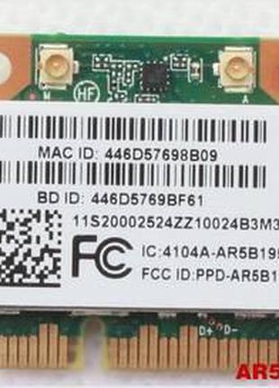 Wi-fi+BT модуль HalfSize Mini pcie Для Lenovo! Qualcomm Athero...