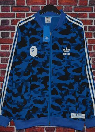 Олимпийка Bape x Adidas camo blue ⏩ Наличие: (S)-1 (XXL)-1