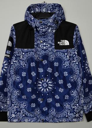 Куртка Supreme x The North Face bandana blue ⏩ Наличие: (M)-2 ...
