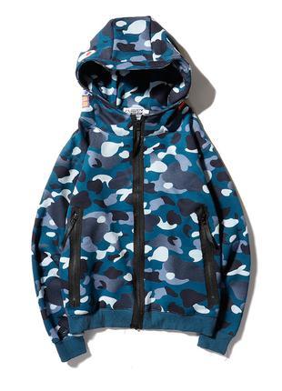 Толстовка bape ninja camo blue ⏩ Наличие: (M)-2 (L)-2
