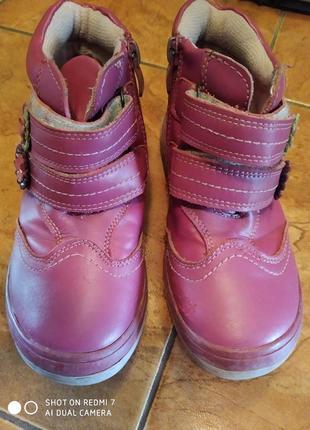 Осенние ботинки розовые