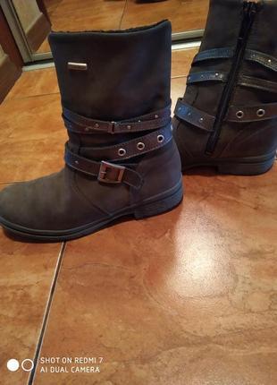 Ботинки набук цвета хаки с партупеей(ремешками) на узенькую ножку