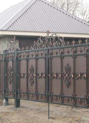 Железные ворота на заказ в Николаеве и Николаевской области.