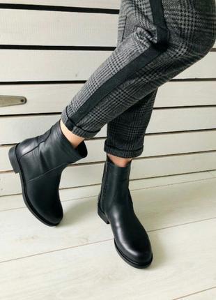 Женские кожаные ботинки классика зима украина