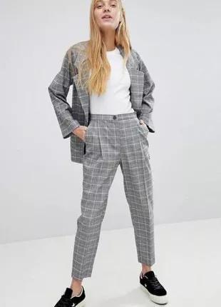 укороченные брюки H&M с завышенной талией