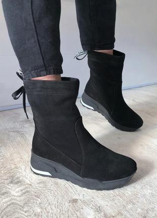 Зимние полусапожки ботинки на платформе