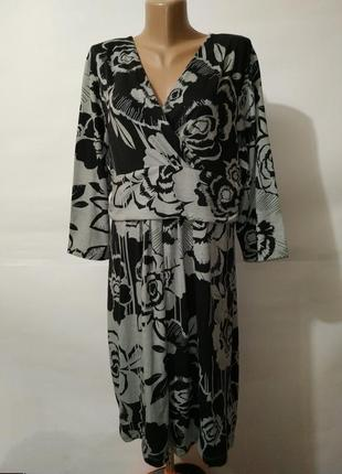 Платье на запах трикотажное красивое большой размер uk 20/48/3xl
