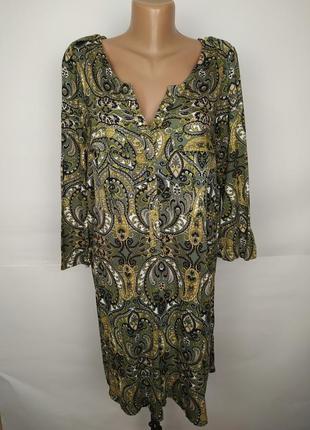 Платье натуральное стильное в рубашечном стиле uk 16/44/xl