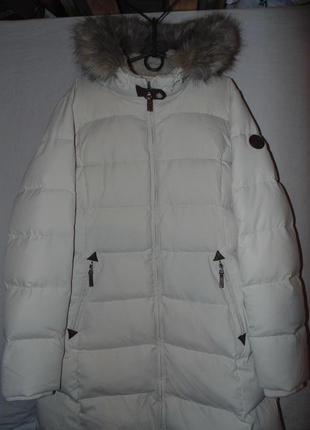 Пальто пуховик куртка мех сьемный натуральный пух polo ralph l...