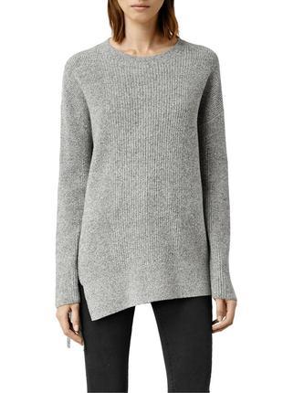 Теплый шерстяной свитер интерестного кроя allsaints