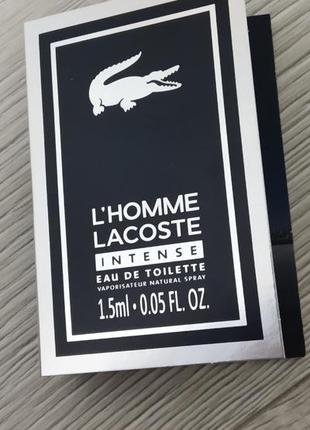 Lacoste l'homme  туалетная вода для мужчин 1.5мл