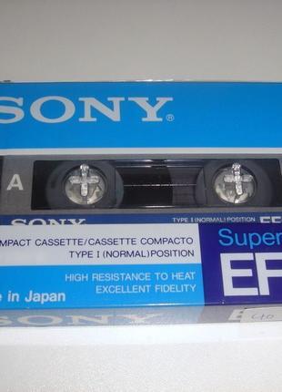 Аудиокассеты (компакт-кассеты) SONY Super EF 90 новые, запечатанн