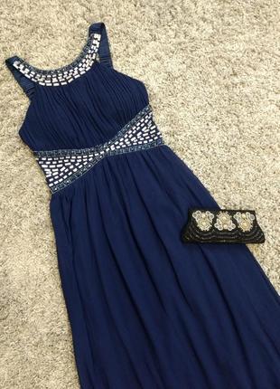 Шикарное вечернее платье в пол quiz
