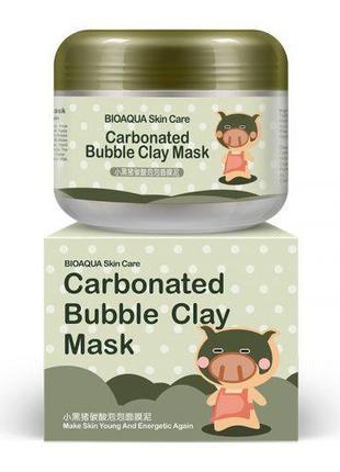 Очищающая пузырьковая маска для кожи лица Bioaqua Skin Care Ca...