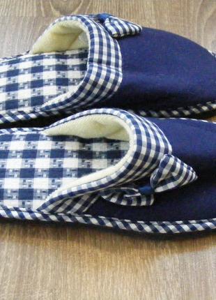 Тапочки - шлепанцы комнатные синие