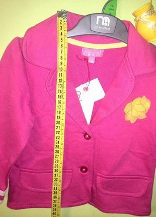 Minoti новый!детский пиджак 80/86cm