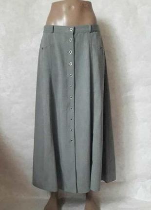 """Фимренная st.bernard юбка в пол в сером цвете """"колокольчик"""" с ..."""