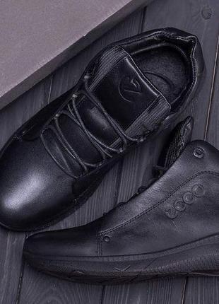Кожаные мужские зимние ботинки шкіряні зимові чоловічі черевик...